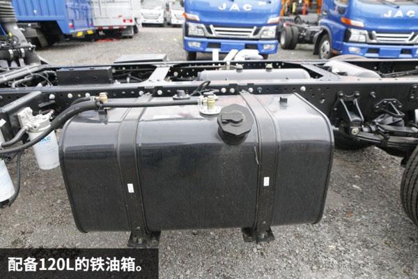 江淮骏铃V5一拖二蓝牌平板清障车图片(十三)