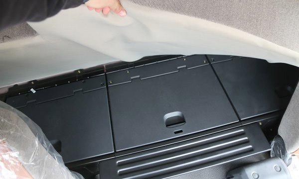 福田欧曼EST9.6米冷藏车卧铺收物格图片
