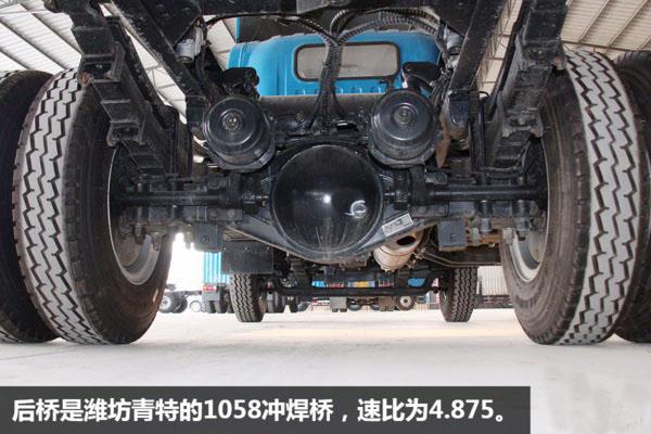 解放虎V一拖二蓝牌平板清障车图片(十三)