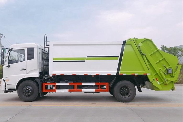 东风12方压缩式垃圾车左侧图片