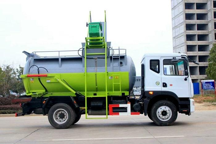东风D9餐厨式垃圾车右侧图片