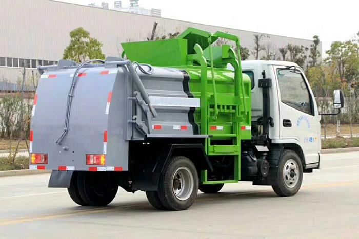 凯马蓝牌餐厨式垃圾车右后图片