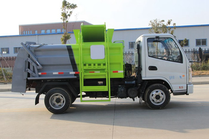 凯马蓝牌餐厨式垃圾车右侧图片