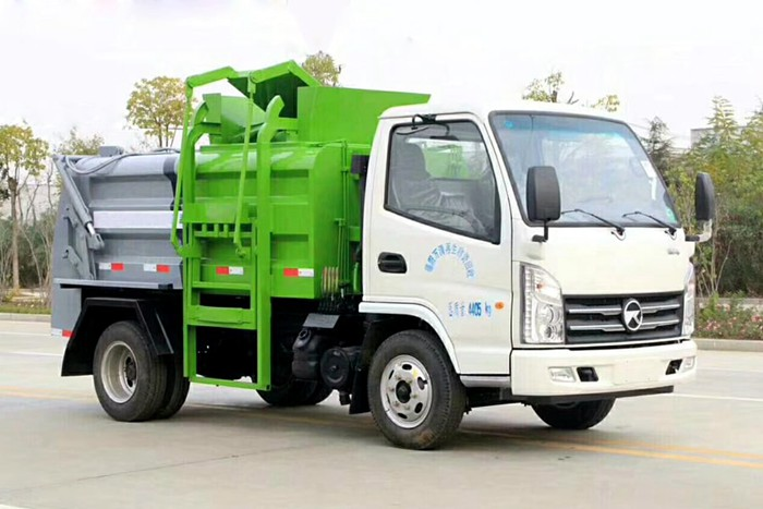 凯马蓝牌餐厨式垃圾车右前侧图片