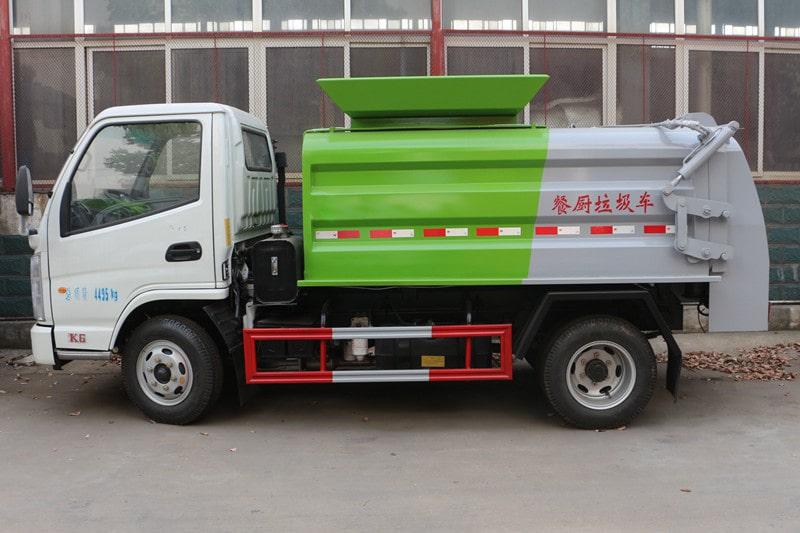 凯马蓝牌3.5方餐厨垃圾车实拍左侧图片