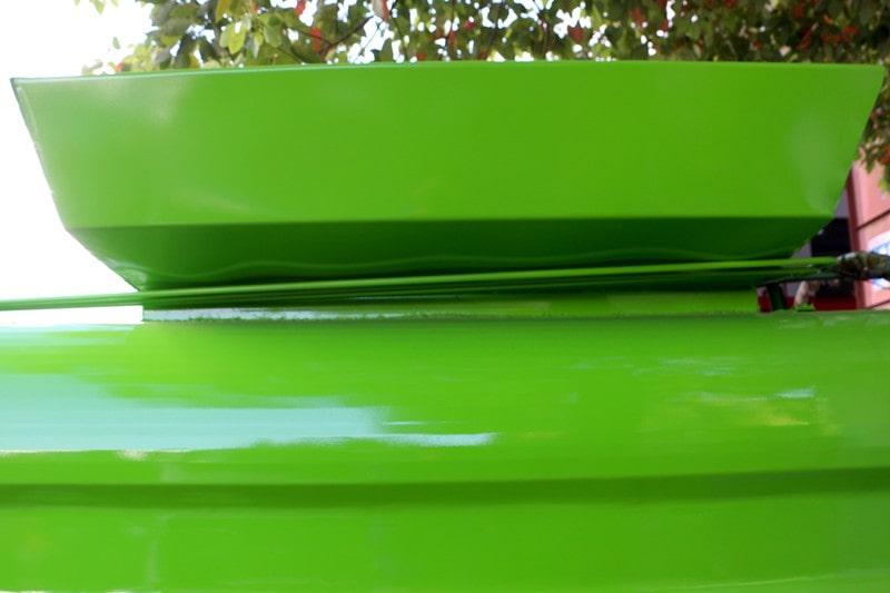 凯马蓝牌3.5方餐厨垃圾车高围边填料口图片