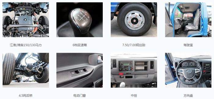江淮6方餐厨垃圾车底盘配置图片