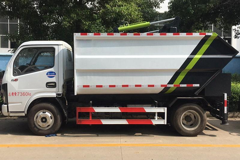 东风5方无泄漏压缩垃圾车左侧图片