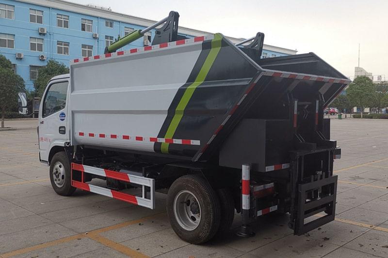 东风5方无泄漏压缩垃圾车左后侧图片
