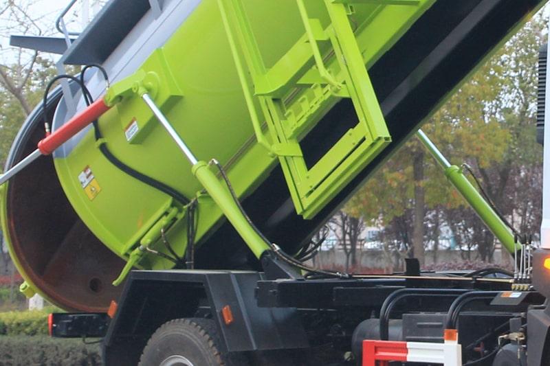 东风D9餐厨式垃圾车双液压卸料油缸图片