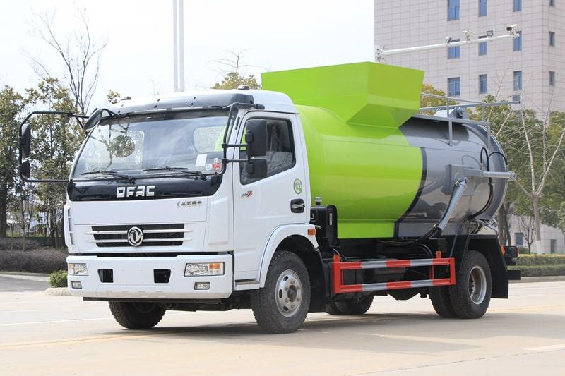 东风D7餐厨式垃圾车左前侧图片