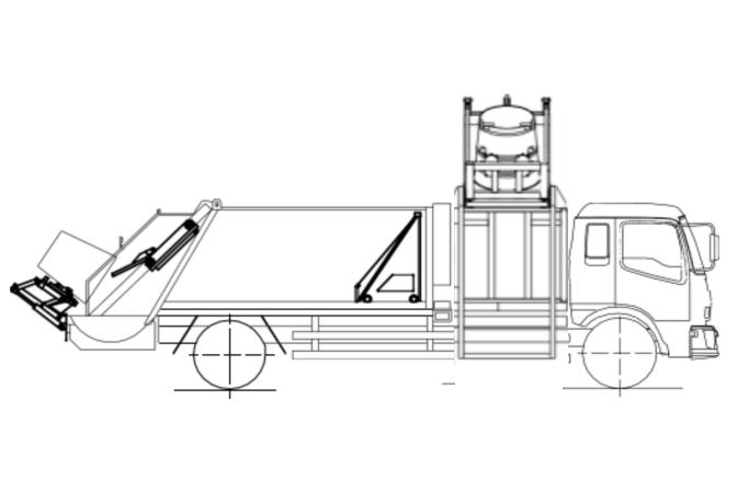 国六东风天锦分捡垃圾运输车结构图片