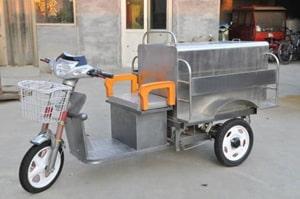 不锈钢电动三轮保洁车左前侧图片