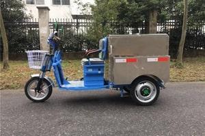 不锈钢电动三轮保洁车左侧图片