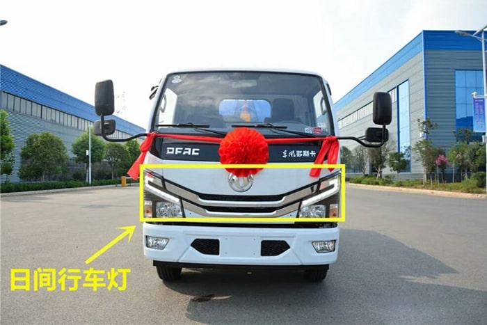 国六东风5方勾臂式垃圾车前侧图片