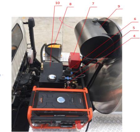 沥青洒布车加温装置结构图2