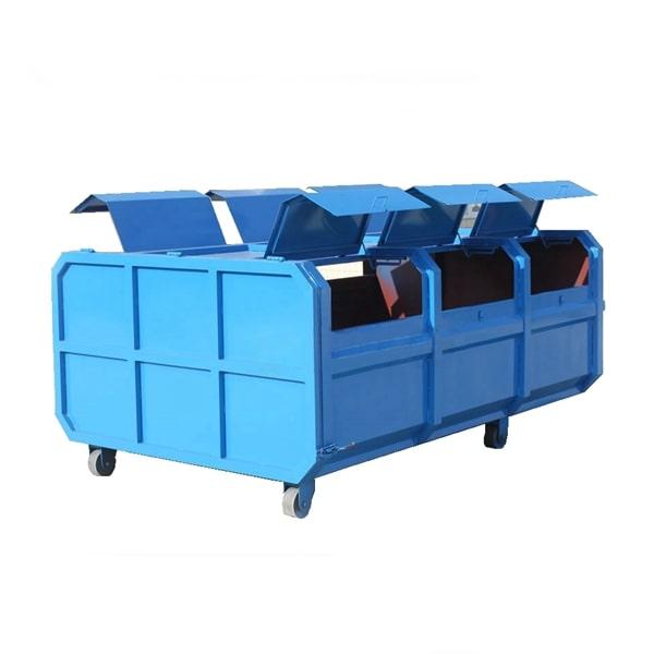 6方勾臂建筑垃圾箱图片