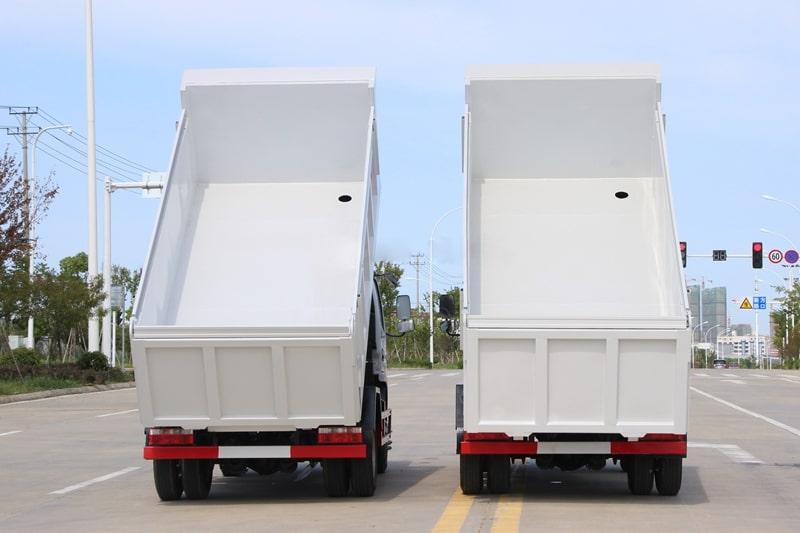 国六东风5方自卸式垃圾车实拍图片1