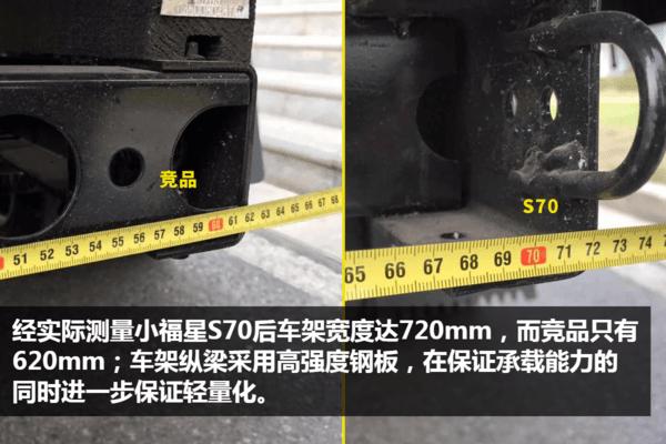 国六跃进桶装垃圾运输车车架宽度对比图片