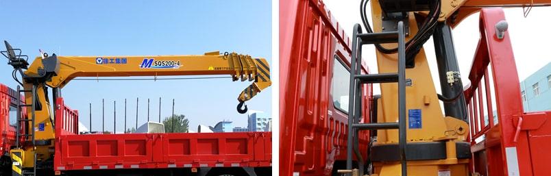 东风8吨双联泵随车吊吊机图片
