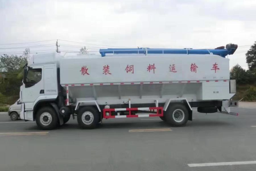 柳汽散装饲料运输车图2