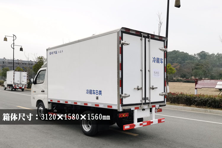 福田祥铃M1冷藏车厢体尺寸