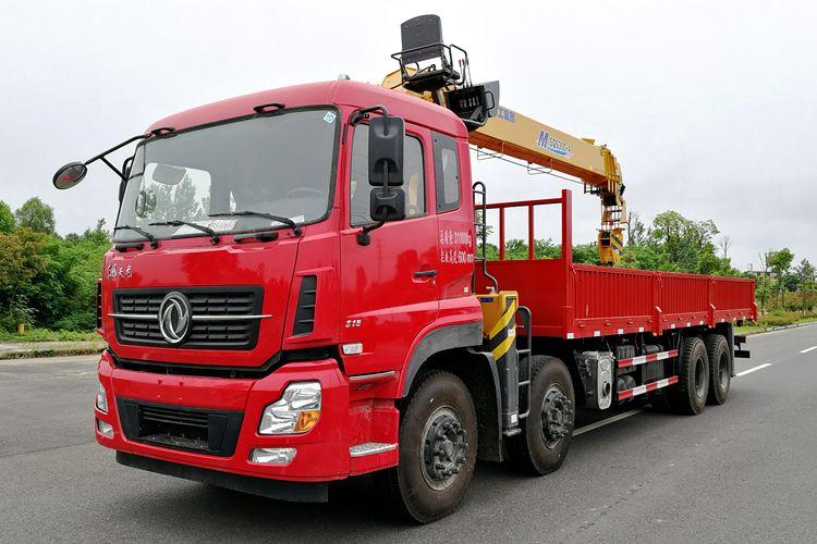 东风天龙12吨双联泵随车吊整车图片