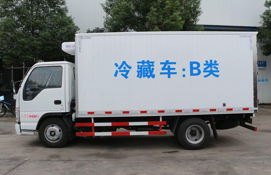 五十铃4.2米冷藏车正侧图片