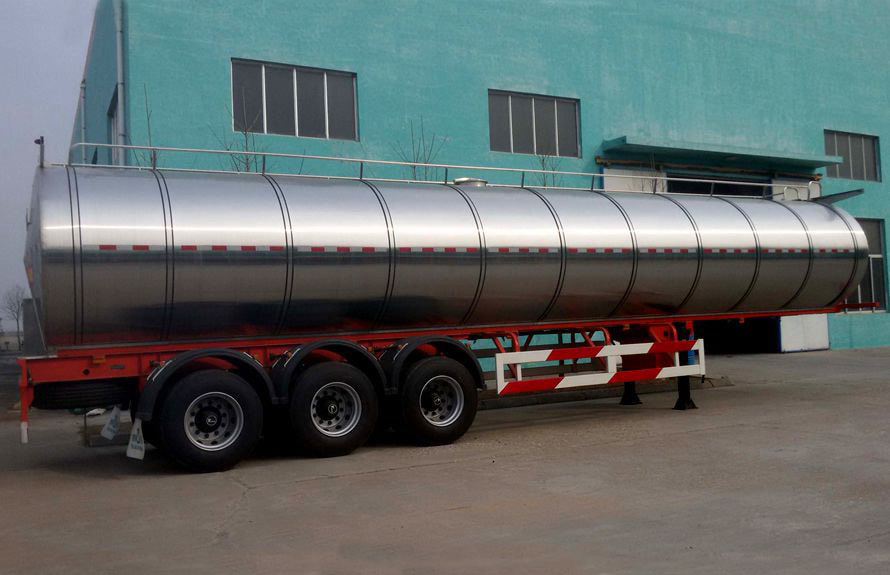 40立方半挂牛奶运输车左侧图片