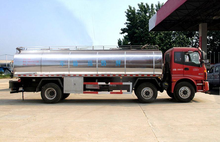 20立方鲜奶运输车正侧图片