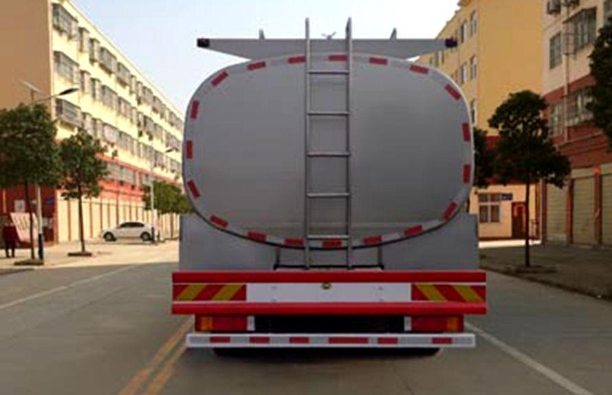 东风天龙前四后八鲜奶运输车车尾图片