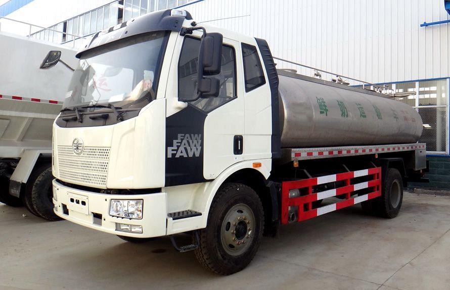 解放鲜奶运输车左侧图片