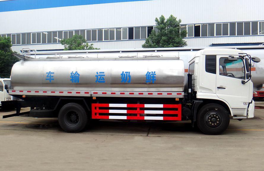东风天锦鲜奶运输车正侧图片