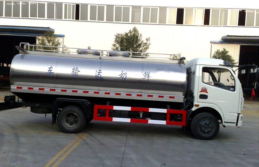 东风8吨液态食品运输车正侧图片