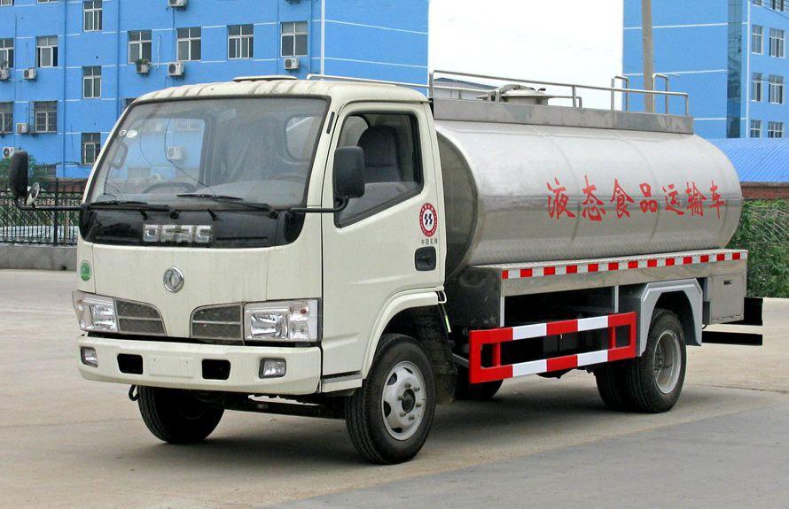 东风8吨液态食品运输车左侧45度图片