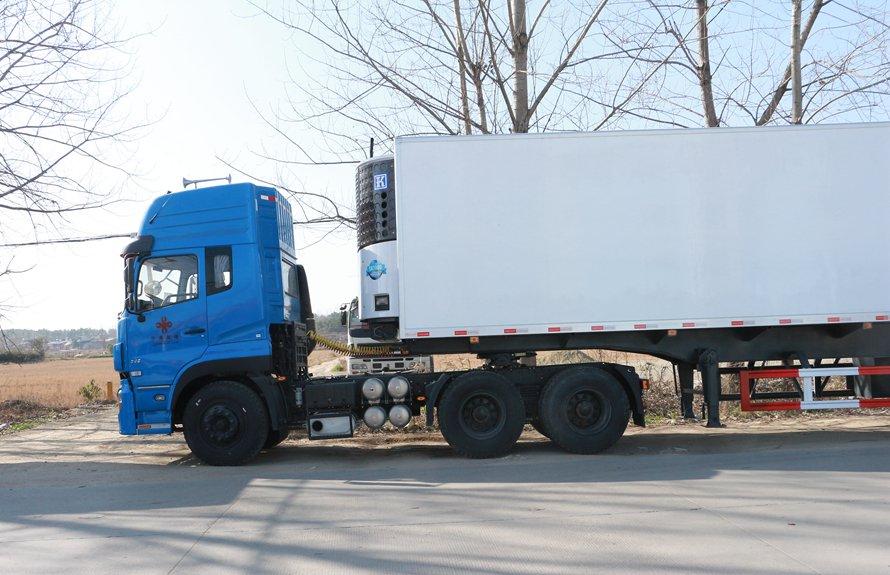 13.8米半挂冷藏车拖头前部分图片