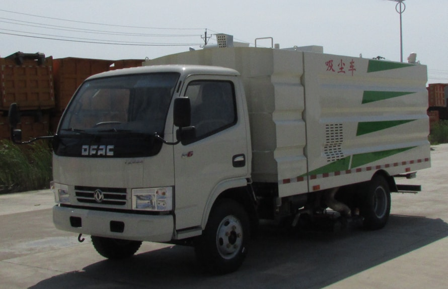 东风多利卡小型吸尘车图片(车头向左前45度)