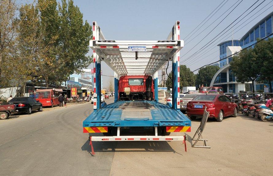 福田欧曼小三轴五位中轴轿运车辆运输车正后