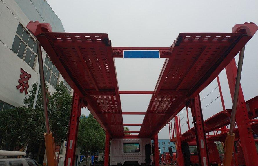 东风D9单桥五位轿运车辆运输车上板