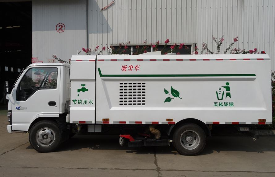 五十铃小型吸尘车图片(车头向左正侧)