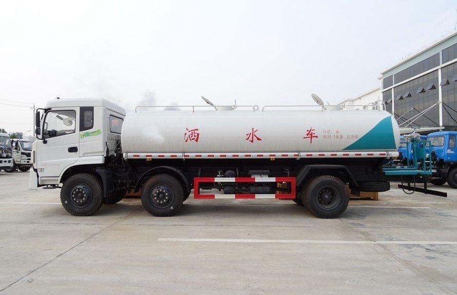 东风小三轴18吨洒水车正侧图片