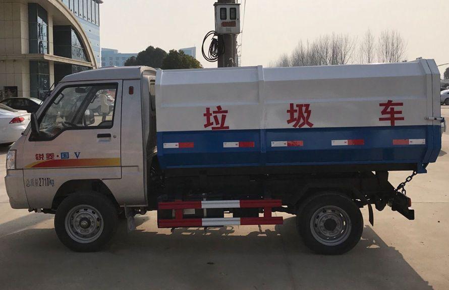 凯马3方挂桶式垃圾车整车外观2