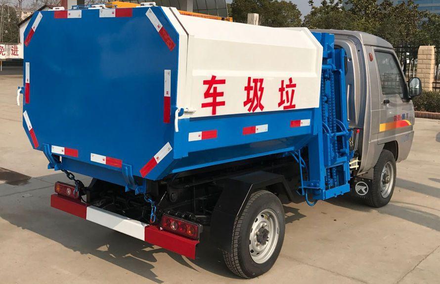 凯马3方挂桶式垃圾车整车外观5