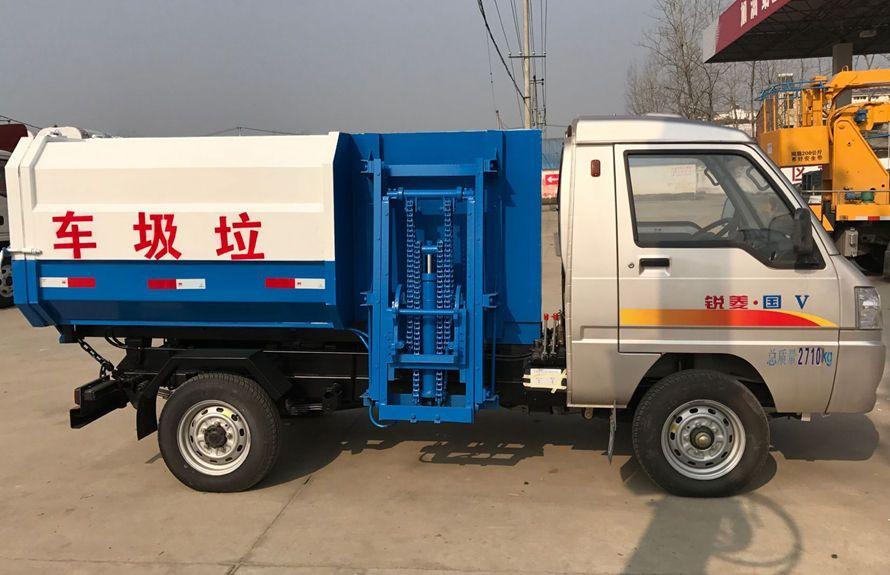 凯马3方挂桶式垃圾车整车外观6