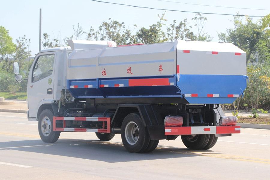 东风5方挂桶式垃圾车整车外观3
