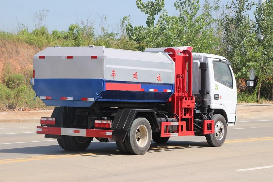 东风5方挂桶式垃圾车整车外观5