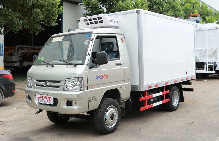 福田驭菱2.9米小型冷藏车斜前图片