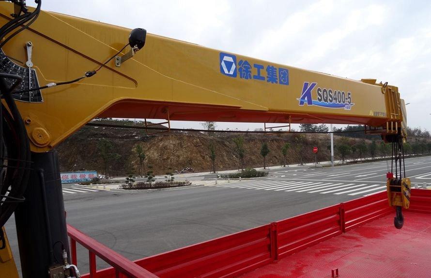 陕汽16吨随车吊5节直臂吊机图片