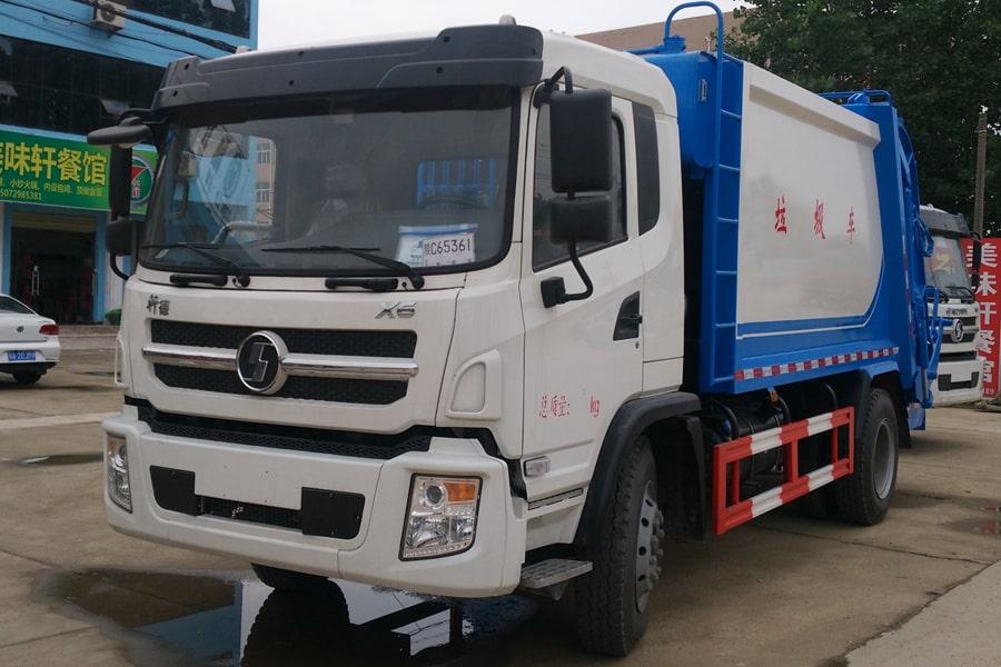 陕汽8吨压缩垃圾车图片(车头向左前45度)
