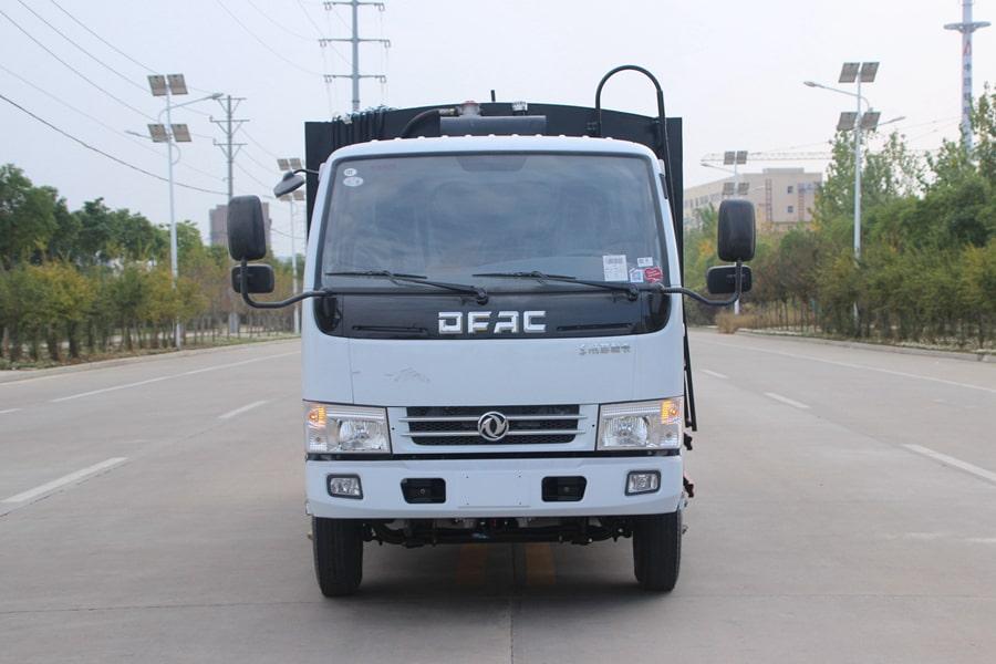 东风3吨压缩式垃圾车图片(正前)